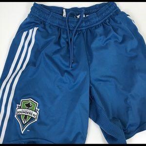 Adidas Seattle Sounders Blue Mens Shorts Medium